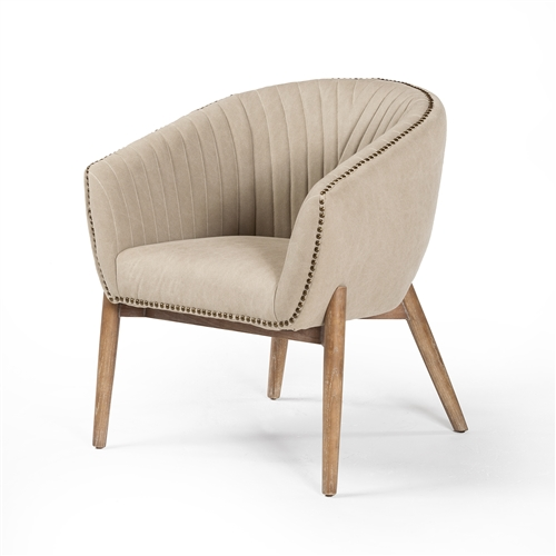 Ephram Occasional Chair in Stonewashed Taupe