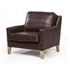 Jane Occasional Chair in Brown Leather