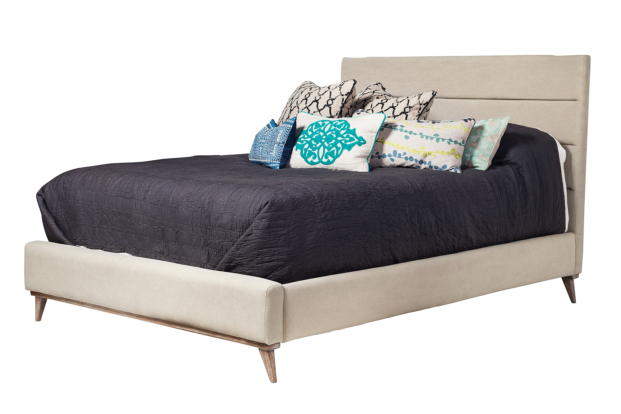 Cooper Upholstered Queen Bed Frame, The Khazana Home Austin ...