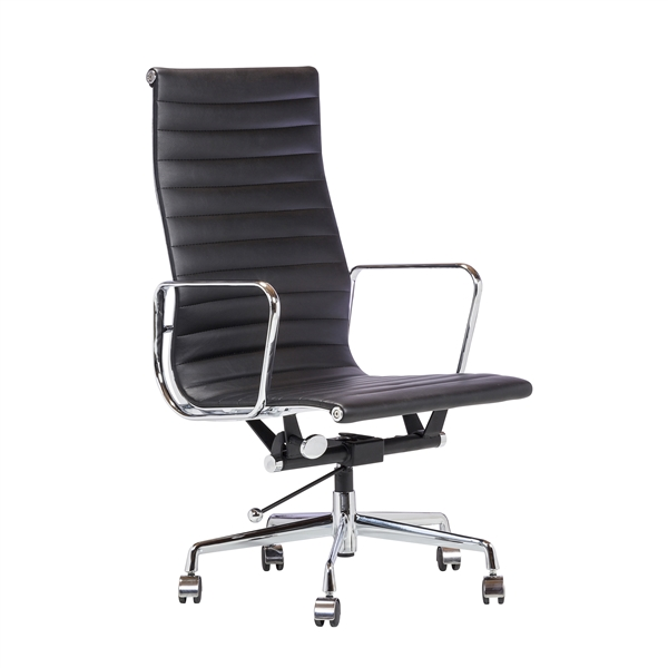 Mid-Century Modern Office Chair in Black