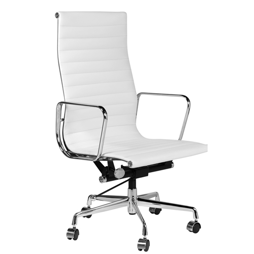 Eames Style Aluminum Group Executive Chair in White