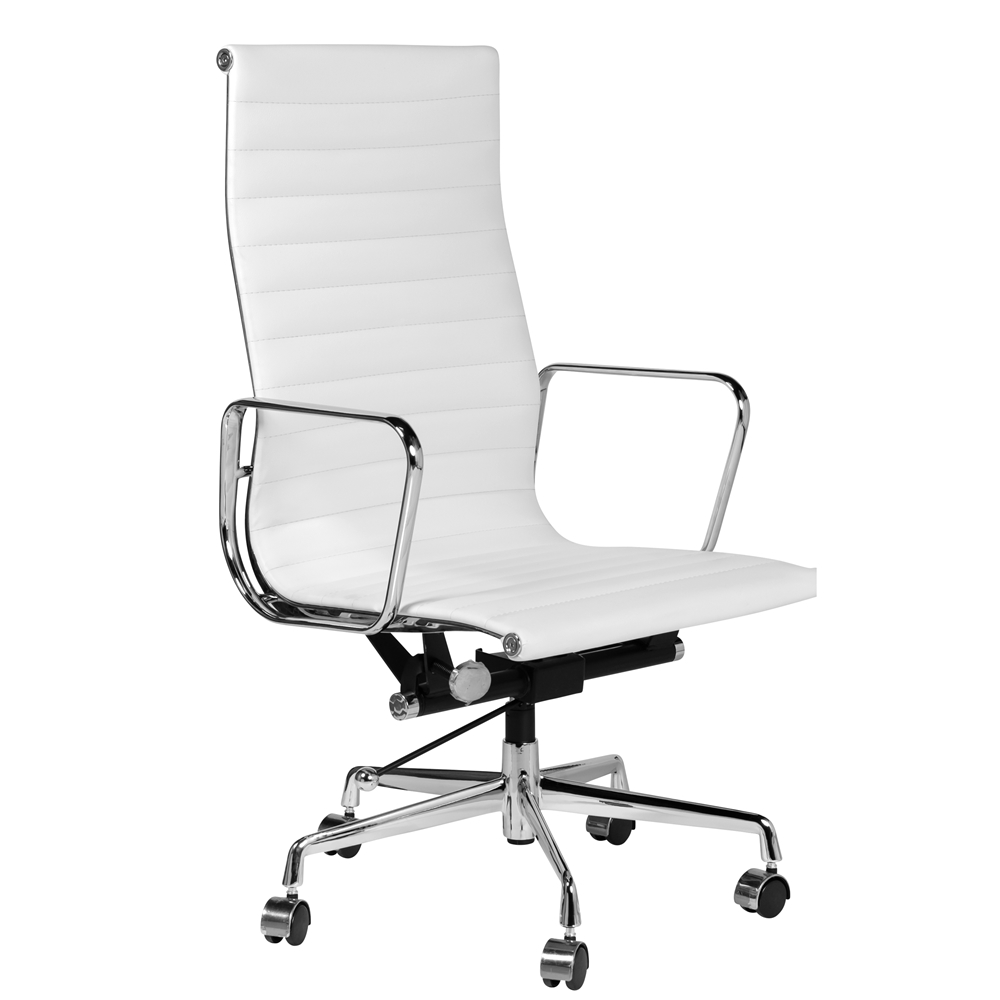 Eames Style Aluminum Group Executive Chair in White, The Khazana Home  Austin Furniture Store