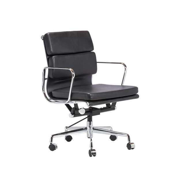 Replica Eames Group Aluminum Chair In Black