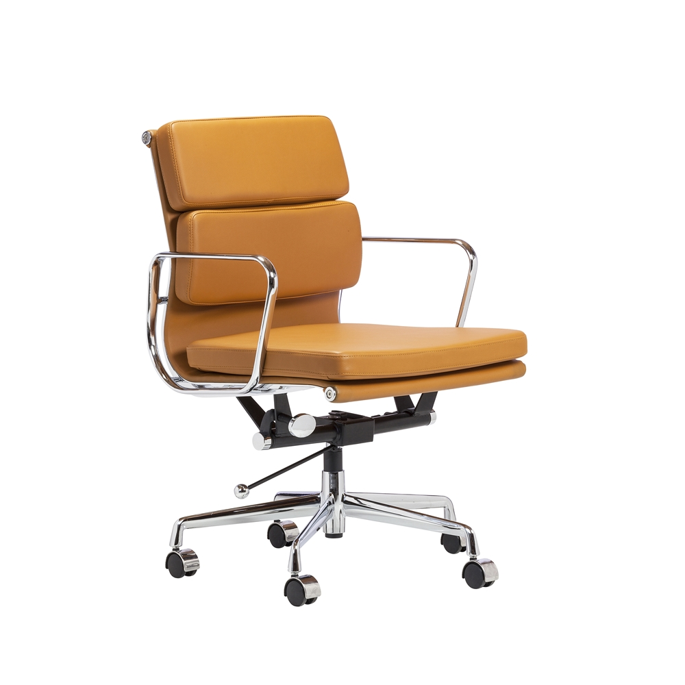 eames reproduction office chair. replica eames soft pad aluminum chair in orange reproduction office
