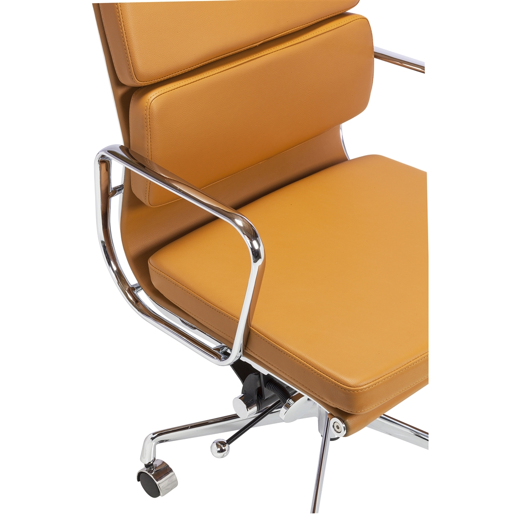 replica eames group aluminum chair in orange the khazana home