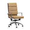 Mid-Century Modern Office Chair in Brown Leather