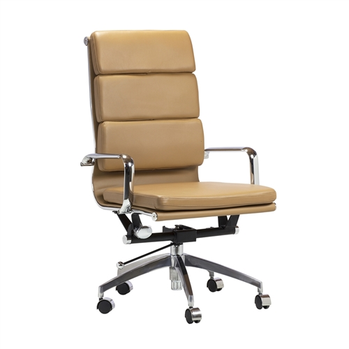 Eames Style Soft Pad Executive Chair in Brown