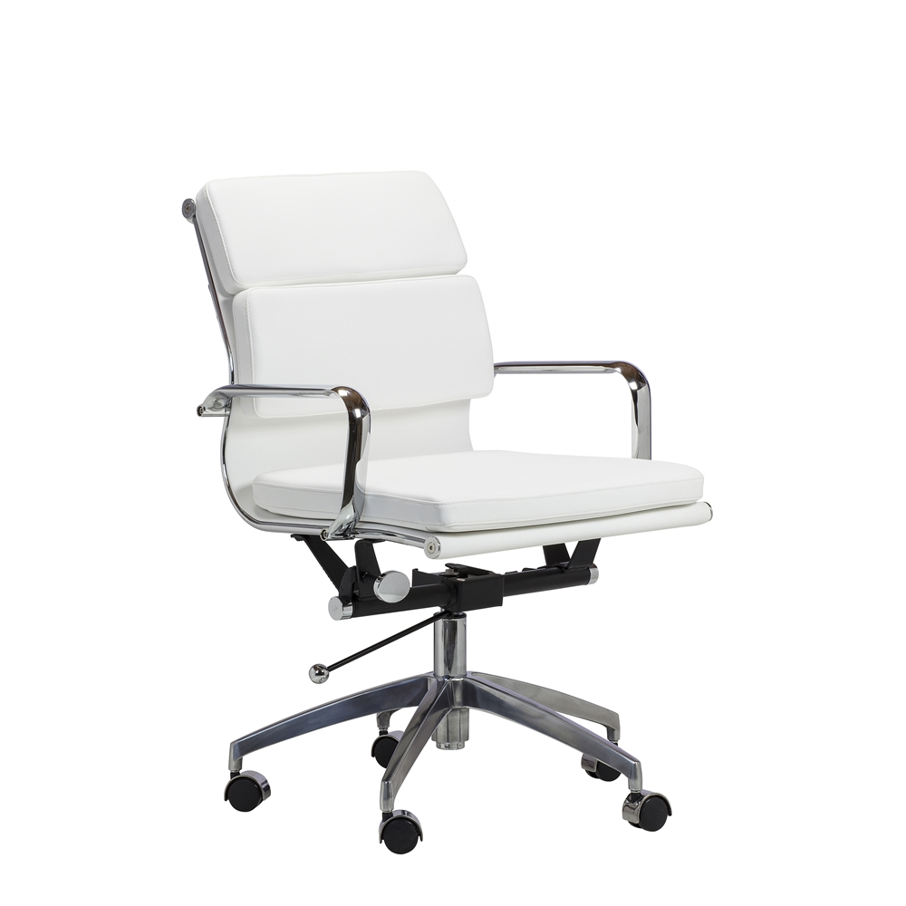 eames style soft pad management chair in black the khazana home