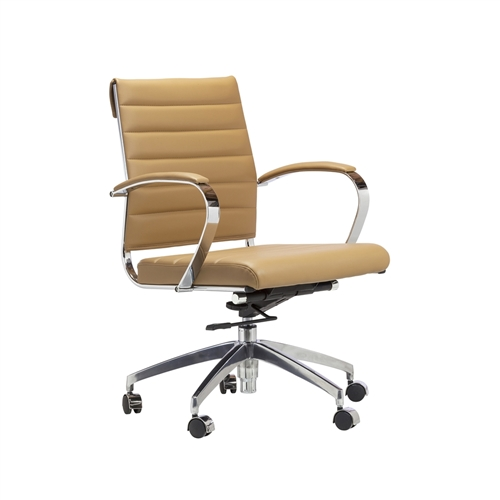 Mid-Century Modern Office Chair in Brown