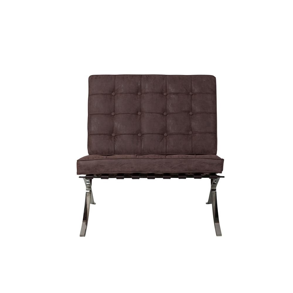 Barcelona Chair ...  sc 1 st  The Khazana & Barcelona Chair u0026 Ottoman Distressed Black Leather The Khazana ...