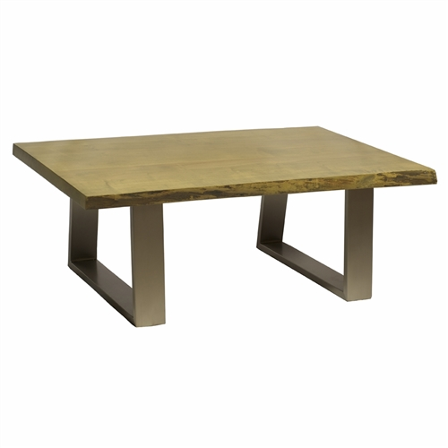 "Live Edge Slab Coffee Table 48"" Antique Grey"
