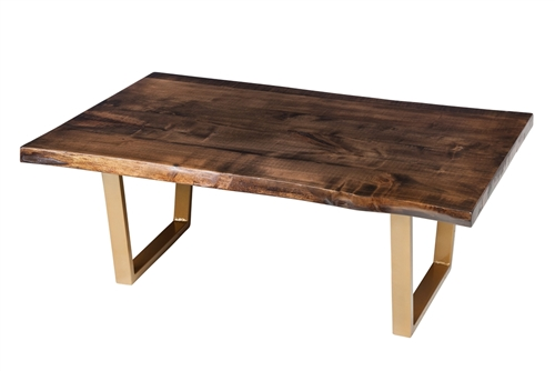 Live Edge North American Walnut Coffee Table, 48""