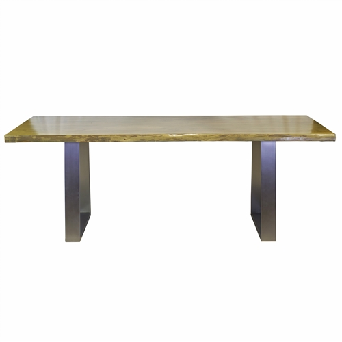 "Live Edge Slab Dining Table 84"" Antique Grey"