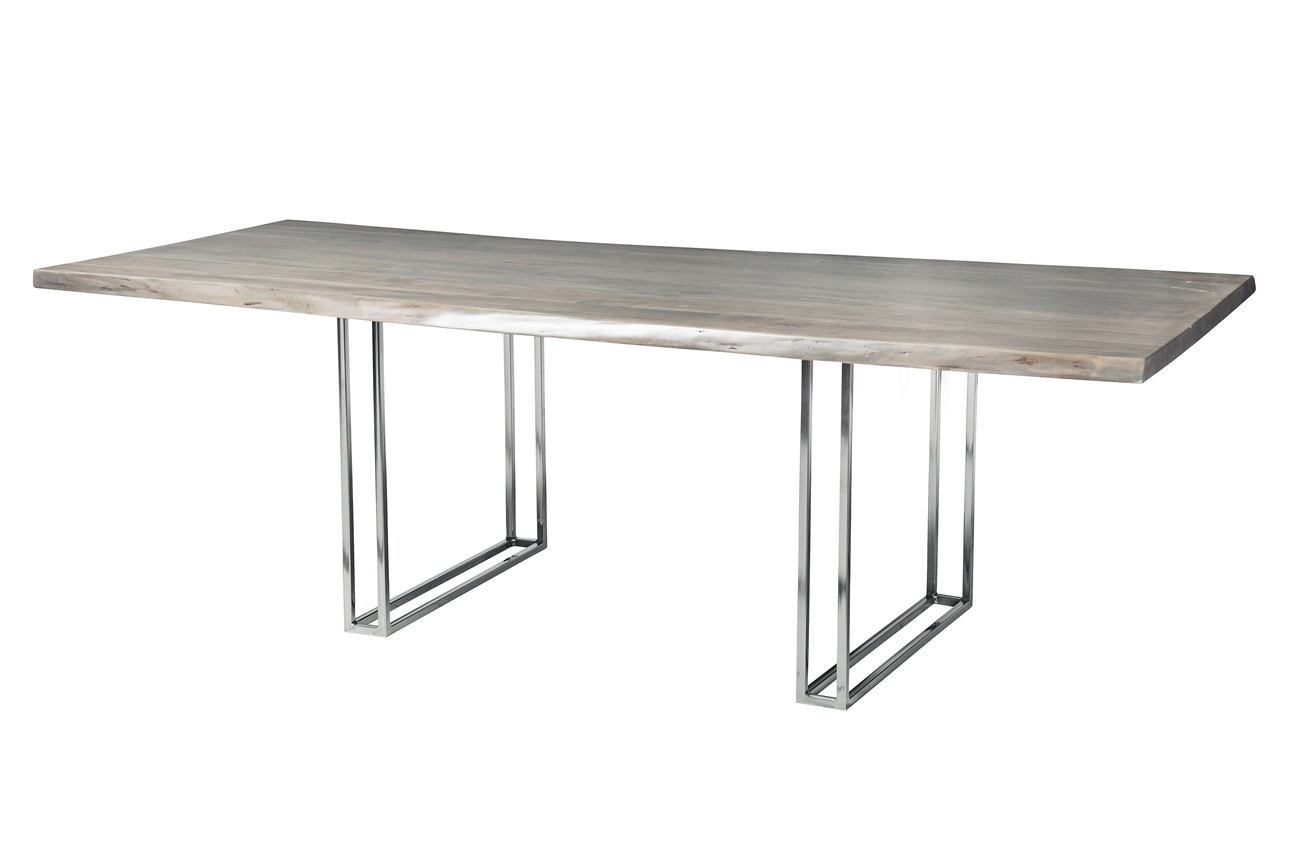 grey wash dining table. Live Edge Slab Dining Table 92\ Grey Wash E