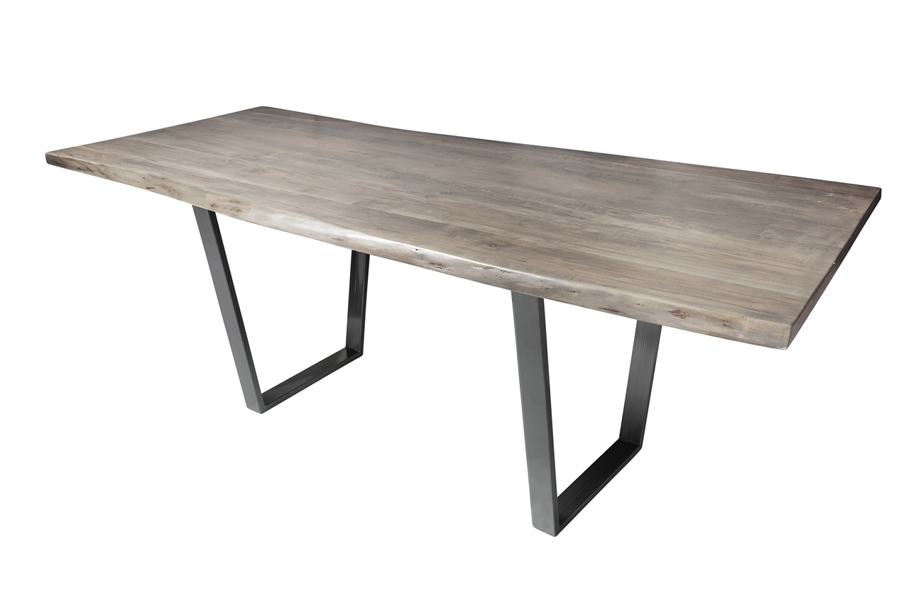 Live edge slab pub table 92 grey wash stain khazana home austin live edge slab pub table 92 grey wash stain geotapseo Images