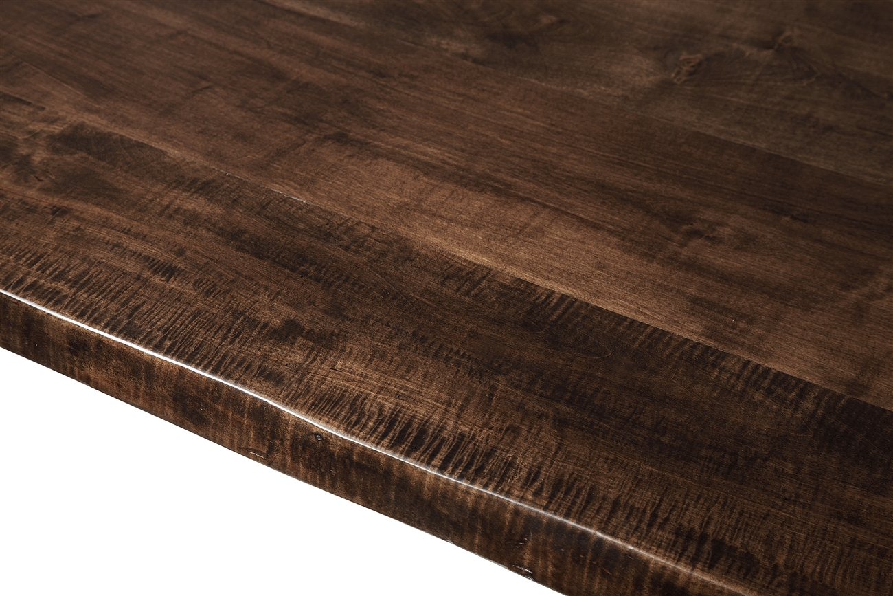 Live Edge Slab Dining Table 60 Jacobean Stain