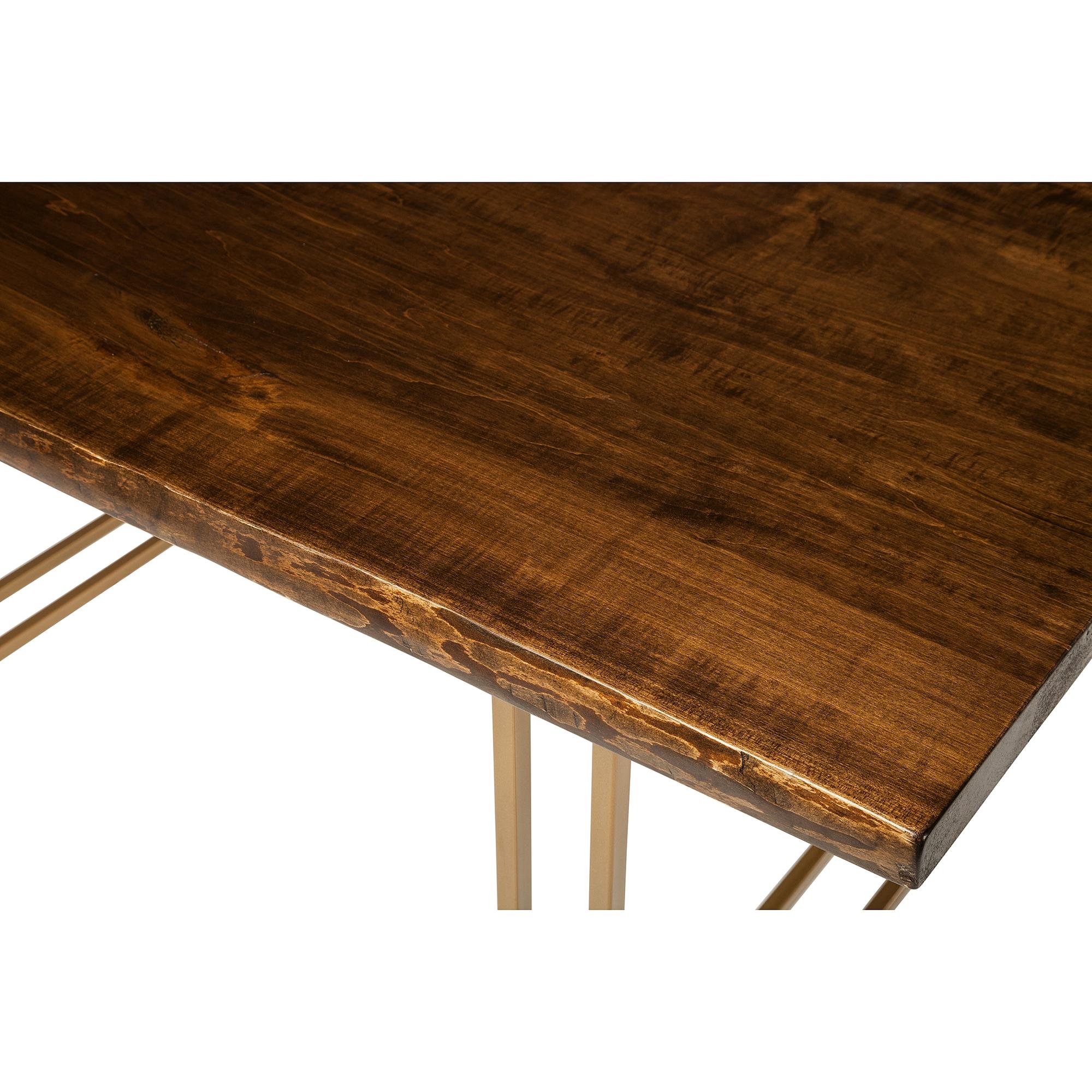 Live Edge Slab Dining Table 60 Jacobean Stain Khazana Home Austin Furniture Store