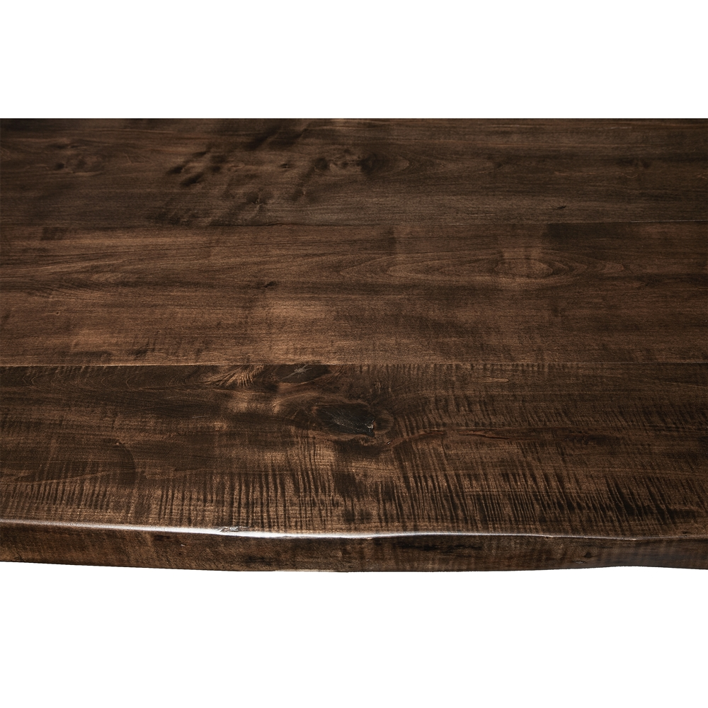 Live Edge Slab Dining Table 96 Jacobean Stain
