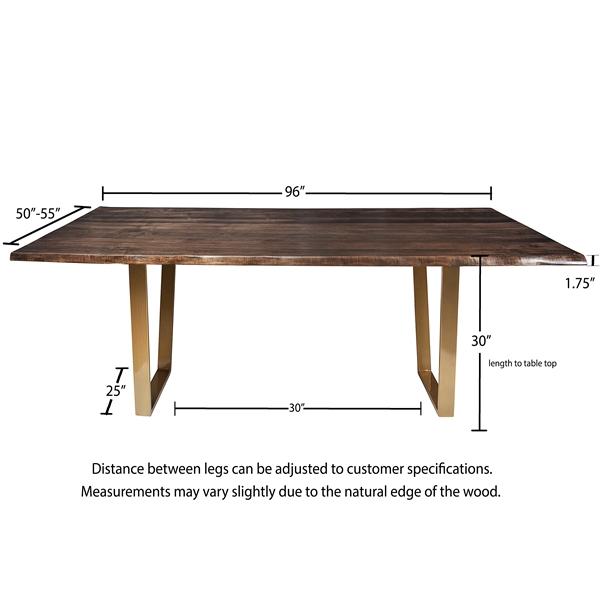 Live Edge Slab Dining Table 96 Jacobean Stain Khazana Home Austin Furniture