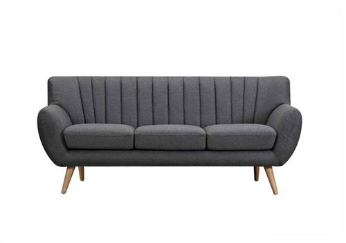 Lydia 3 Seater Sofa in Dark grey