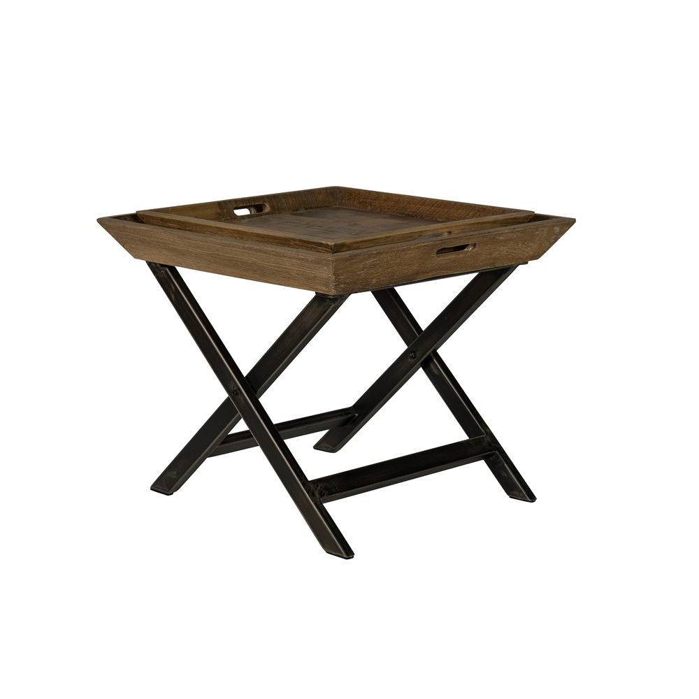 Reclaimed Pine Tray Side Table