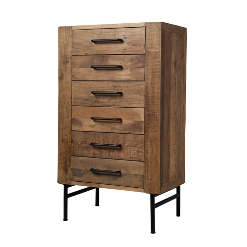 Bristol Reclaimed Pine Six Drawer Dresser
