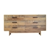 Angora Reclaimed Wood 6 Drawer Dresser