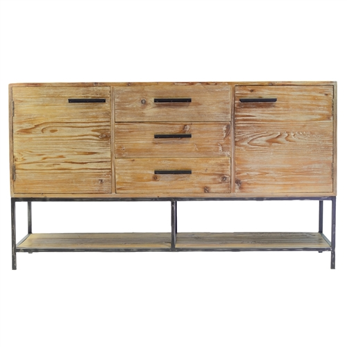 Elegant Reclaimed 3 Drawer Sideboard