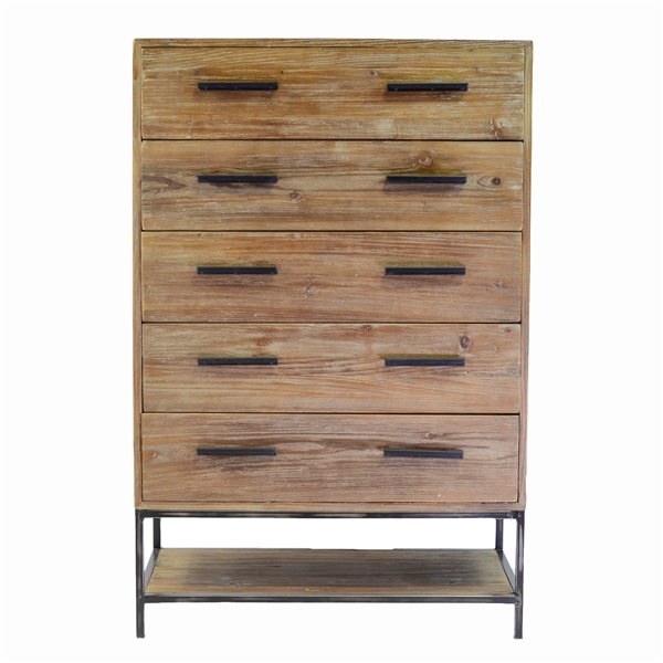Elegant Reclaimed 5 Drawer Dresser