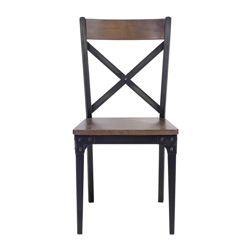 Industrial Herringbone Inlay Dining Chair