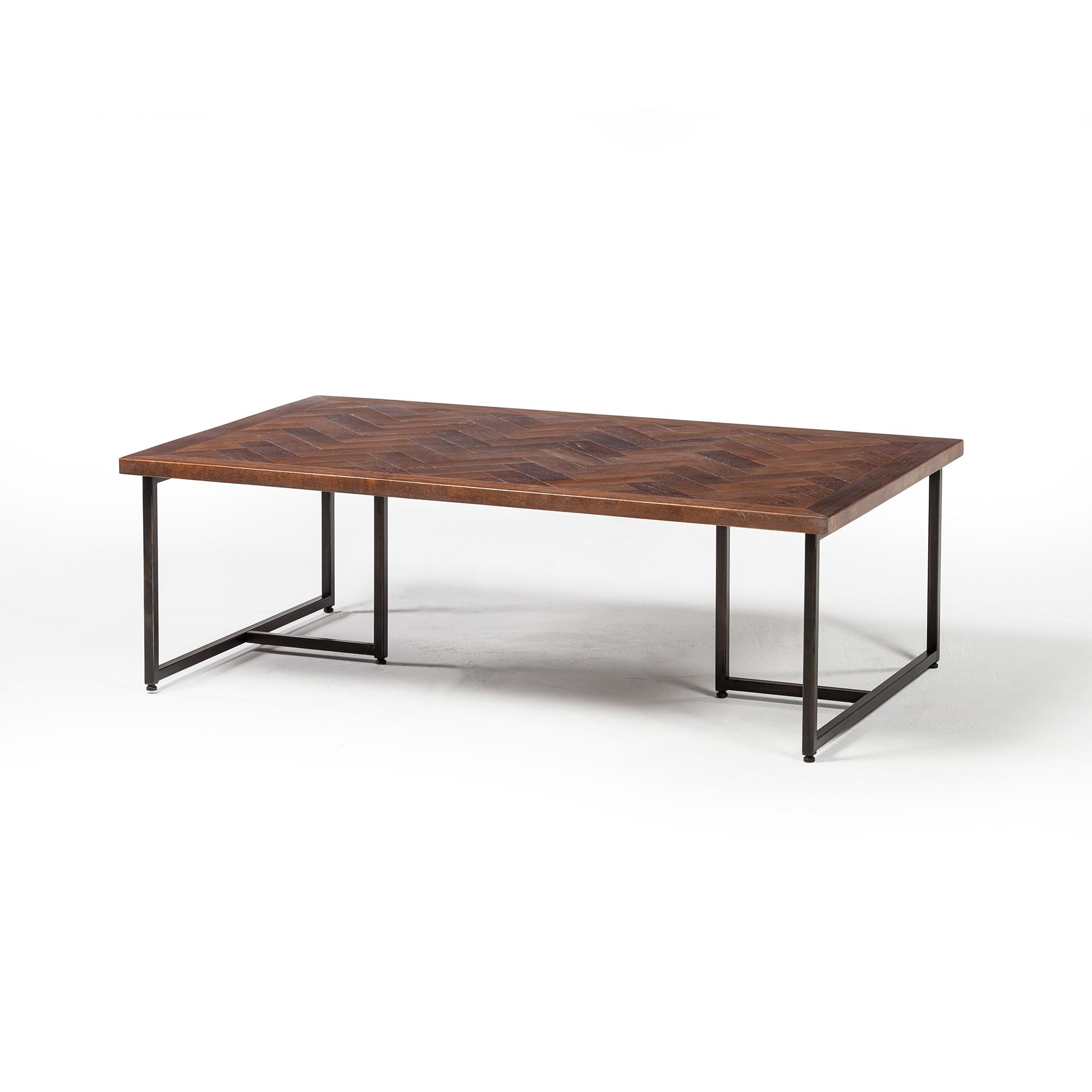 Herringbone Inlay Coffee Table The Khazana Home Furnishings