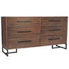 Herringbone Inlay Six Drawer Dresser