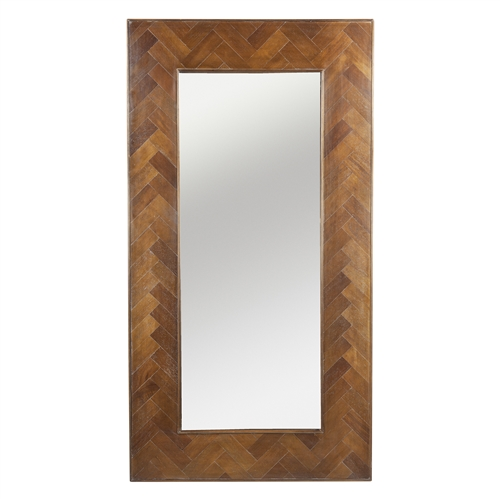 Herringbone Inlay Floor Mirror