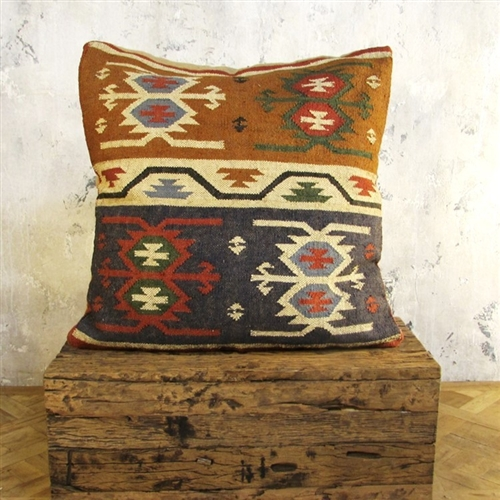 Large Burlap Pillow