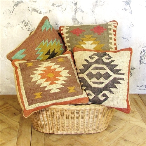 Small Burlap Pillow