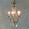 Petite French Lyon Crystal Chandelier