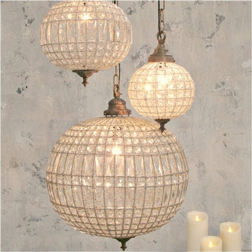 Crystal Ball Large Chandelier