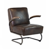 Savanah Club Chair in Antique Brown Leather