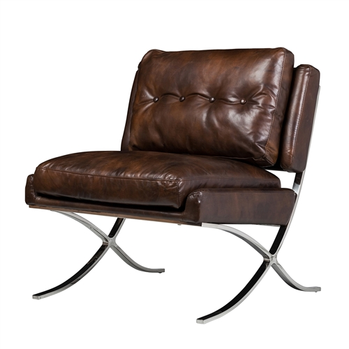 Capetown Occasional Chair in Antique Brown Leather