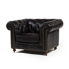 Chesterfield Club Chair in Black Leather