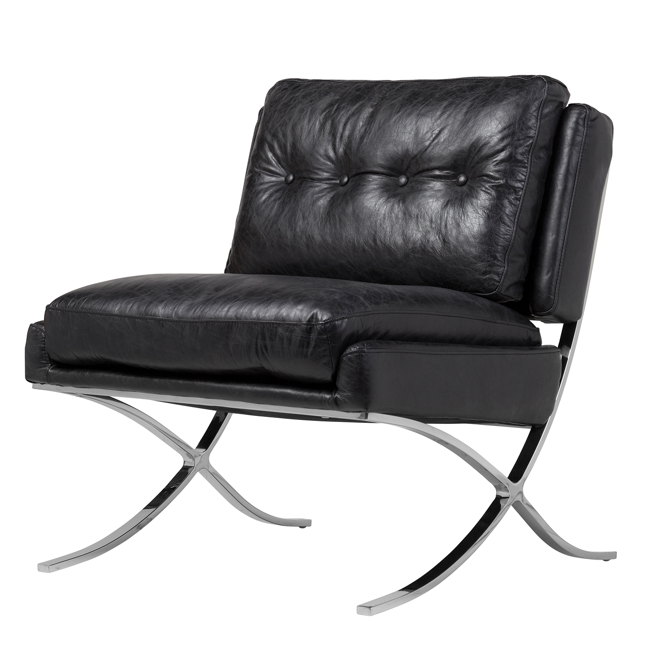Marvelous Capetown Occasional Chair In Black Leather Ocoug Best Dining Table And Chair Ideas Images Ocougorg