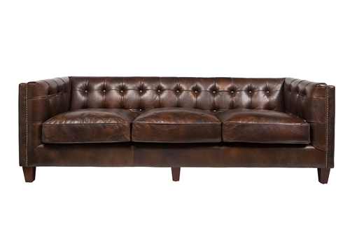 Cape Town 3 Seater Sofa in Antique Brown Leather