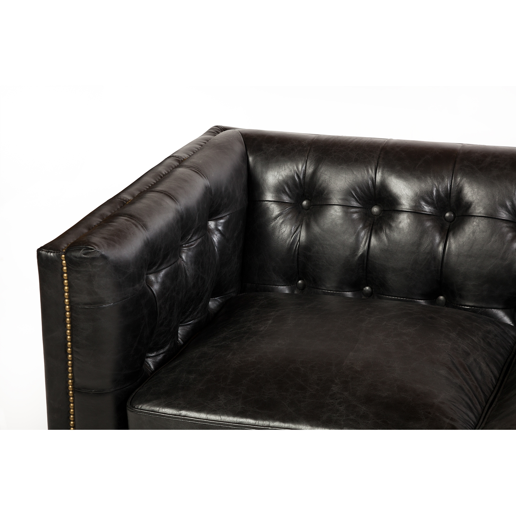 Capetown 3 Seater Sofa In Legacy Black Leather