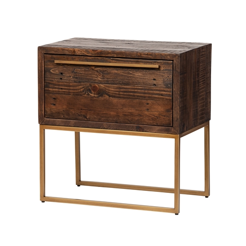 León One Drawer Nightstand