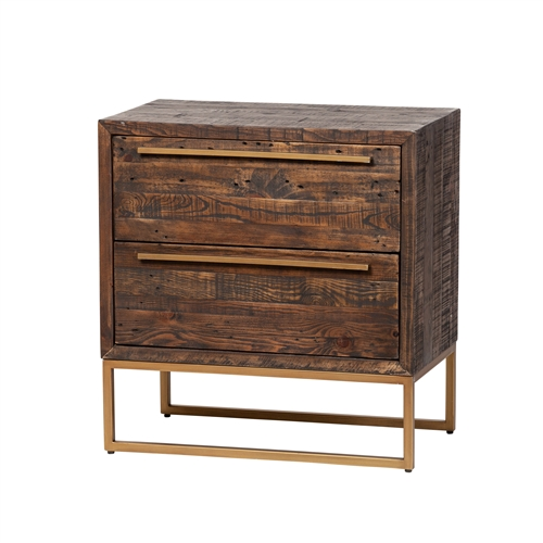León Two Drawer Nightstand