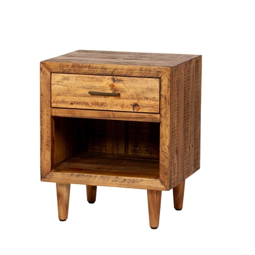 Reclaimed Pine One Drawer Nightstand
