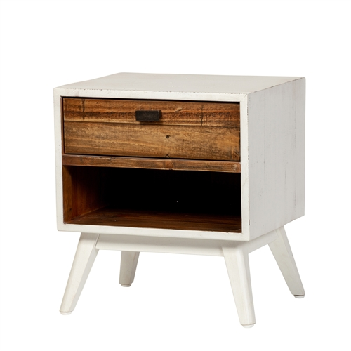 Ana One Drawer Nightstand - Farmhouse White