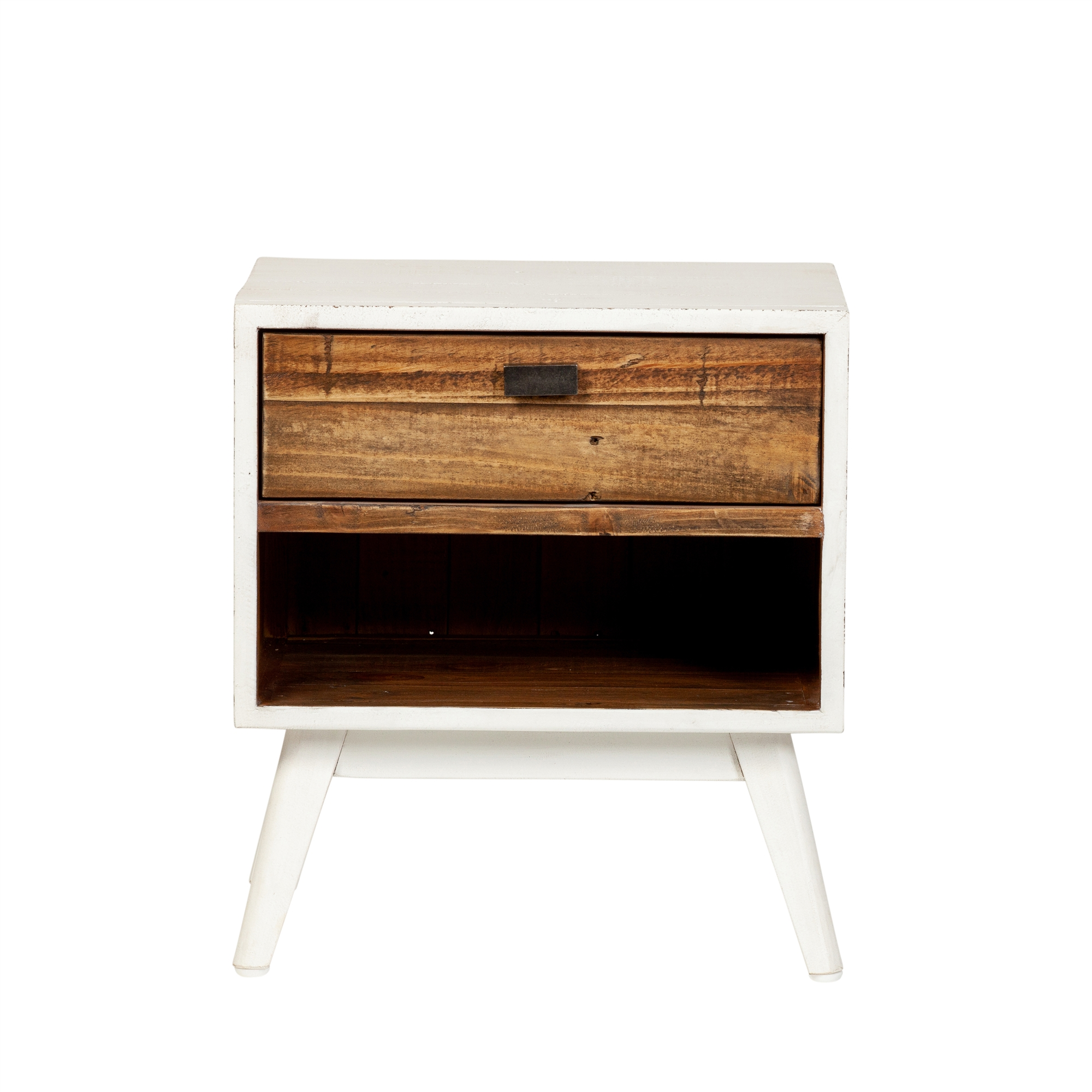 Ana One Drawer Nightstand Farmhouse White