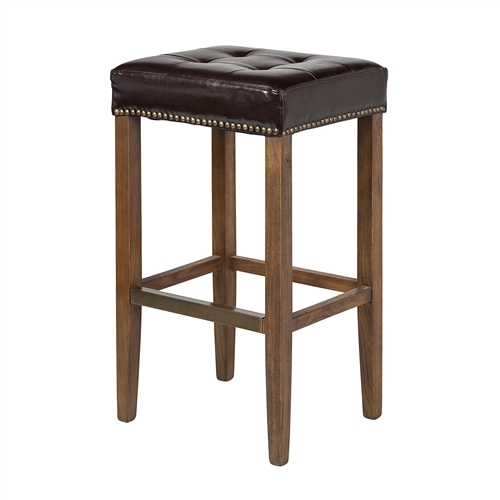 Ash Bar Stool in Leather