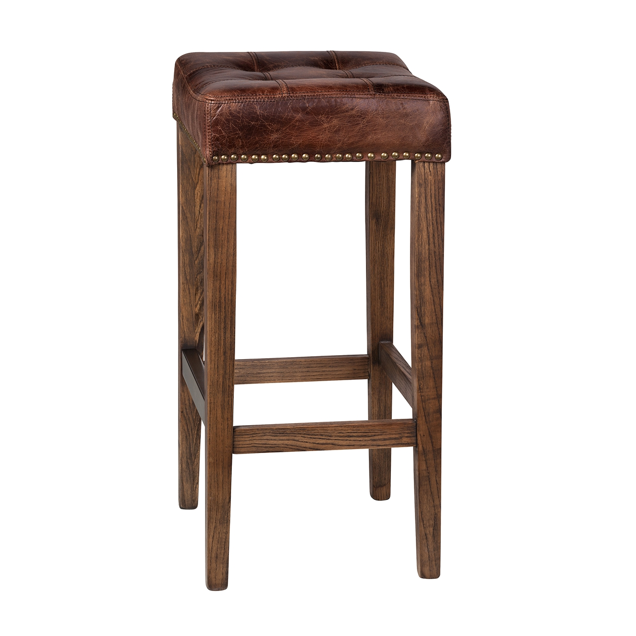 Best Of Tufted Leather Bar Stool